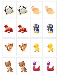 Memorama pra Imprimir Animales3
