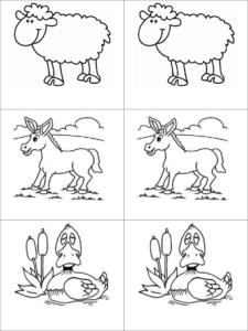 Memorama pra Imprimir Animales4